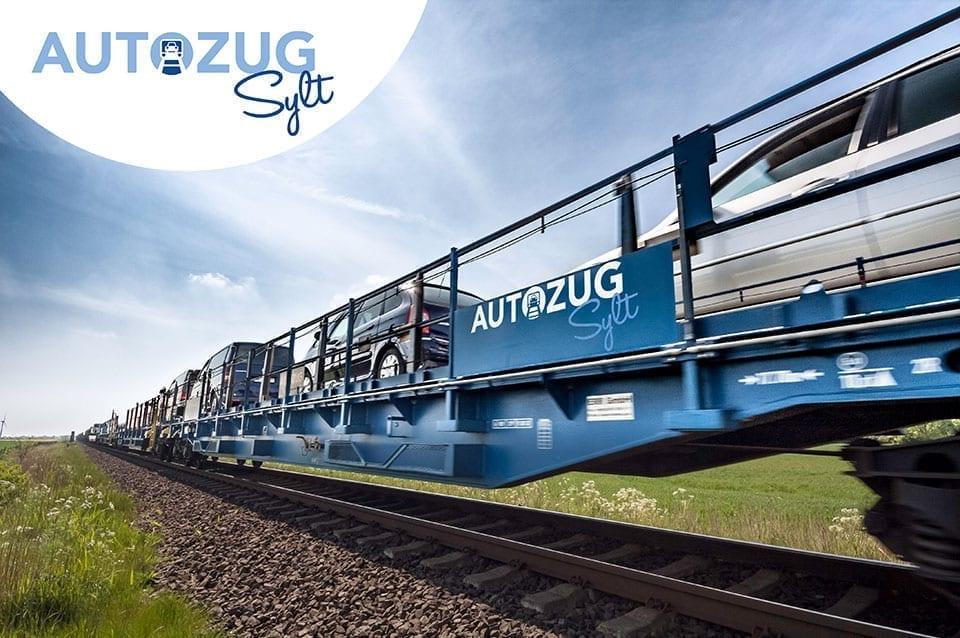 Der blaue Autozug Sylt